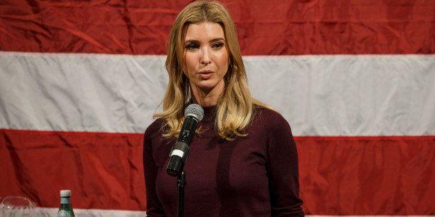 HOLLIS, NH - NOVEMBER 3: Ivanka Trump, daughter of U.S. Republican presidential nominee Donald Trump, speaks during a campaig