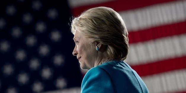 Democratic presidential nominee Hillary Clinton speaks during a rally at the Cleveland Public Auditorium November 6, 2016 in