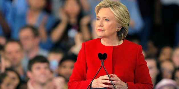 Democratic presidential nominee Hillary Clinton pauses while speaking at a campaign rally in Raleigh, North Carolina November