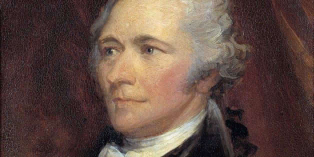 Portrait of Alexander Hamilton (1757-1804), Secretary of the Treasury of the United States. Painting by George Healy (1808-18