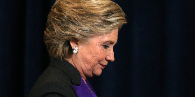 Hillary Clinton attends an event where she addressed her staff and supporters about the results of the U.S. election at a hot