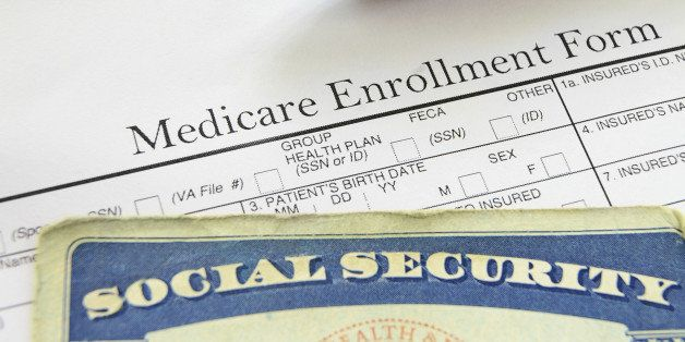 Social Security card and Medicare enrollment form