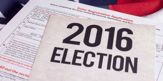 Voter Registration Application for presidential election 2016