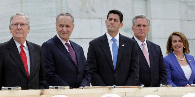 Senate Majority Leader Mitch McConnell (R-KY), Senator Chuck Schumer (D-NY), House Speaker Paul Ryan (R-WI), House Majority L