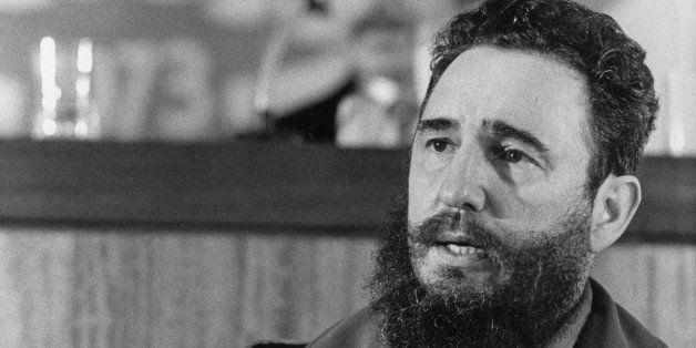 Cuban Prime Secretary of the Cuban Communist party and President of the State Council Fidel Castro addresses 13 September 197