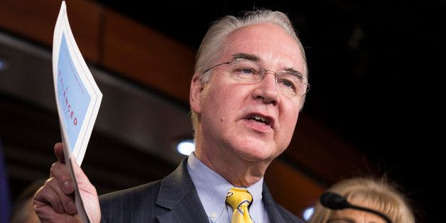 Chairman of the House Budget Committee Tom Price (R-GA) announces the House Budget during a press conference on Capitol Hill