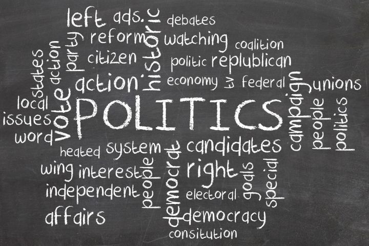 politics word cloud on...