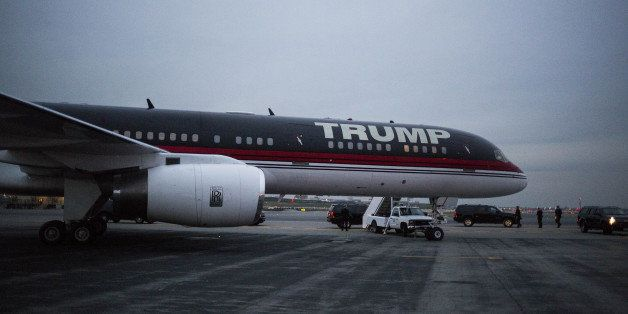 The plane of U.S. President-elect Donald J. Trump stands at LaGuardia Airport (LGA) in the Queens borough of New York, U.S.,
