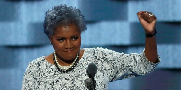 Democratic National Committee Vice Chair of Voter Registration and Participation Donna Brazile speaks at the Democratic Natio