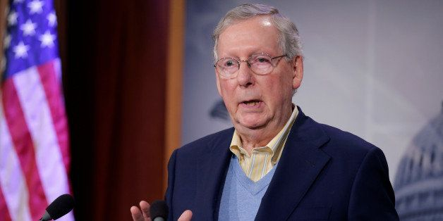 Senate Majority Leader Mitch McConnell (R-KY) speaks about the election of Donald Trump in the U.S. presidential election in