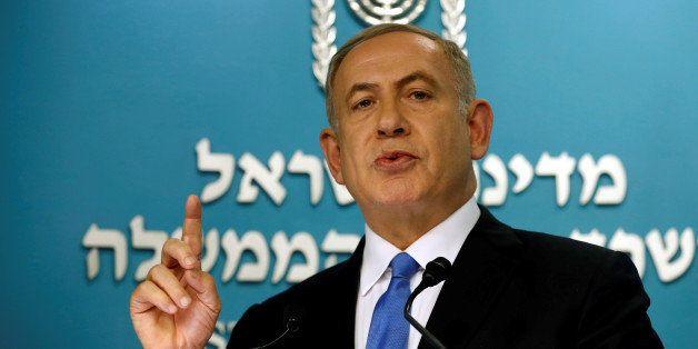 Israeli Prime Minister Benjamin Netanyahu delivers a speech in his office in his Jerusalem office December 28, 2016. REUTERS/