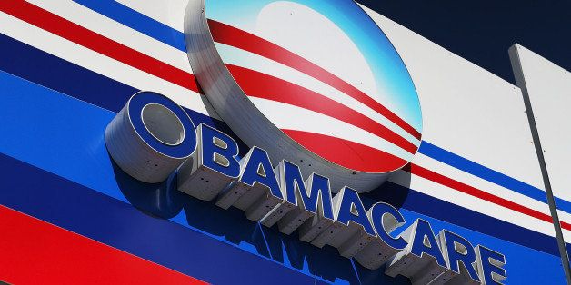 MIAMI, FL - DECEMBER 15:  An Obamacare sign is seen on the UniVista Insurance company office on December 15, 2015 in Miami, F