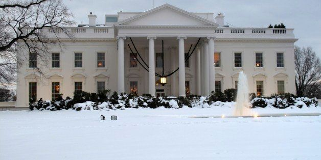 Cold December Snow at the White House