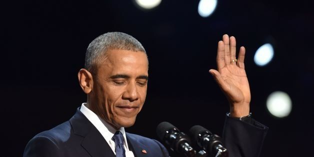 US President Barack Obama speaks during his farewell address in Chicago, Illinois on January 10, 2017. Barack Obama closes t
