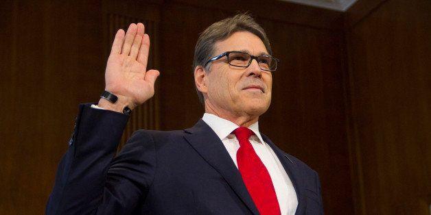 WASHINGTON, DC, UNITED STATES - 2017/01/19: Former Texas Governor Rick Perry, President-elect Donald Trump's choice as Secret