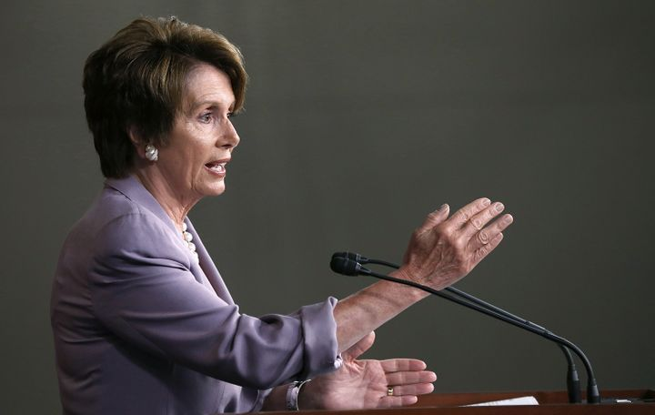 WASHINGTON, DC - JULY 19:  House Minority Leader Rep. Nancy Pelosi (D-CA) answers questions during her weekly news conference