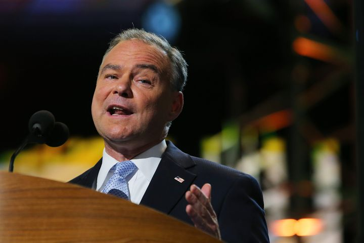 CHARLOTTE, NC - SEPTEMBER 04:  Candidate for the US Senate, Virginia former Virginia Gov. Tim Kaine speaks during day one of