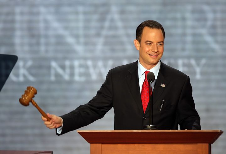 TAMPA, FL - AUGUST 28:  RNC Chairman Reince Priebus calls the convention to order during the second day of the Republican Nat