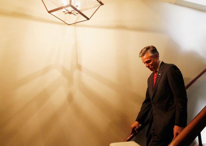 CHARLESTON, SC - JANUARY 15:  Republican presidential candidate, former Utah Gov. Jon Huntsman as he visits Virginia's restau