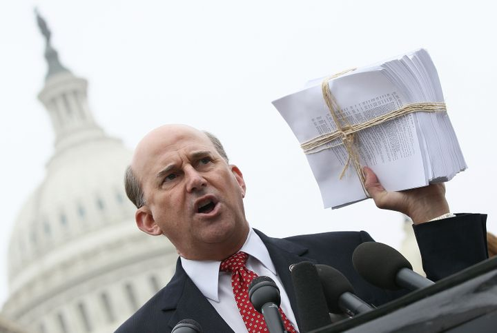 WASHINGTON, DC - MARCH 21:  U.S. Rep. Louie Gohmert (R-TX) speaks during a press conference at the U.S. Capitol March 21, 201