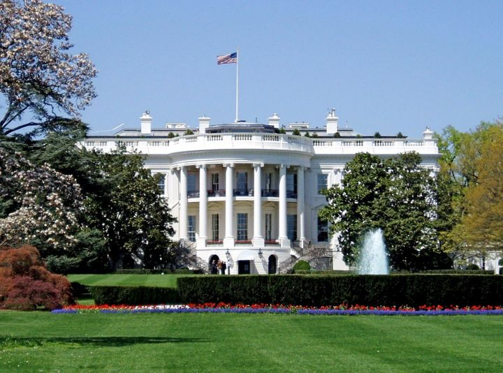 Description South façade of the en:White House | White House , the en:executive mansion | executive mansion  of the en:Presid