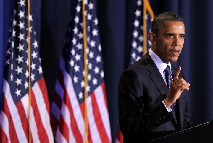 WASHINGTON, DC - DECEMBER 03:  U.S. President Barack Obama addresses the Nunn-Lugar Cooperative Threat Reduction (CTR) sympos
