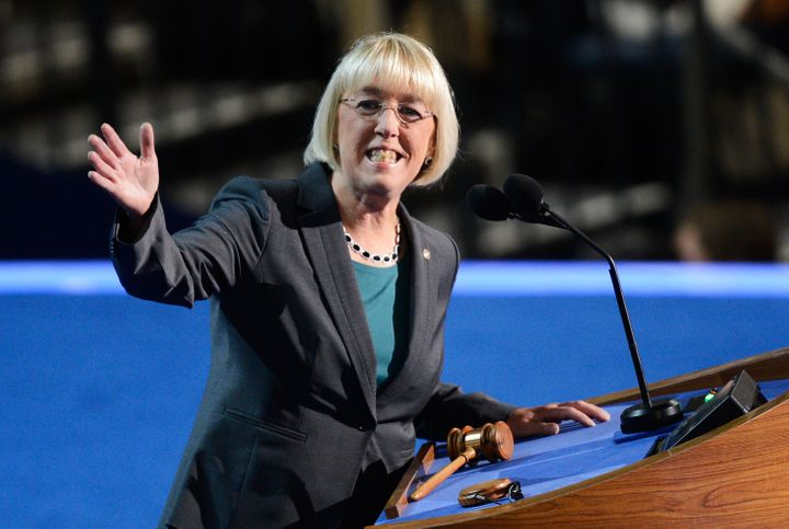 CHARLOTTE, NC - SEPTEMBER 05:  Chair of the Democratic Senatorial Campaign Committee, U.S. Sen. Patty Murray (D-WA) speaks du