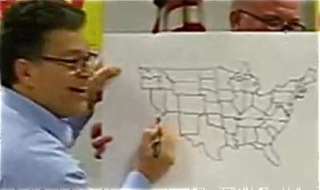 Franken Adds Alaska Hawaii To Parlor Trick Map After Begich Begs - Al-franken-draws-us-map