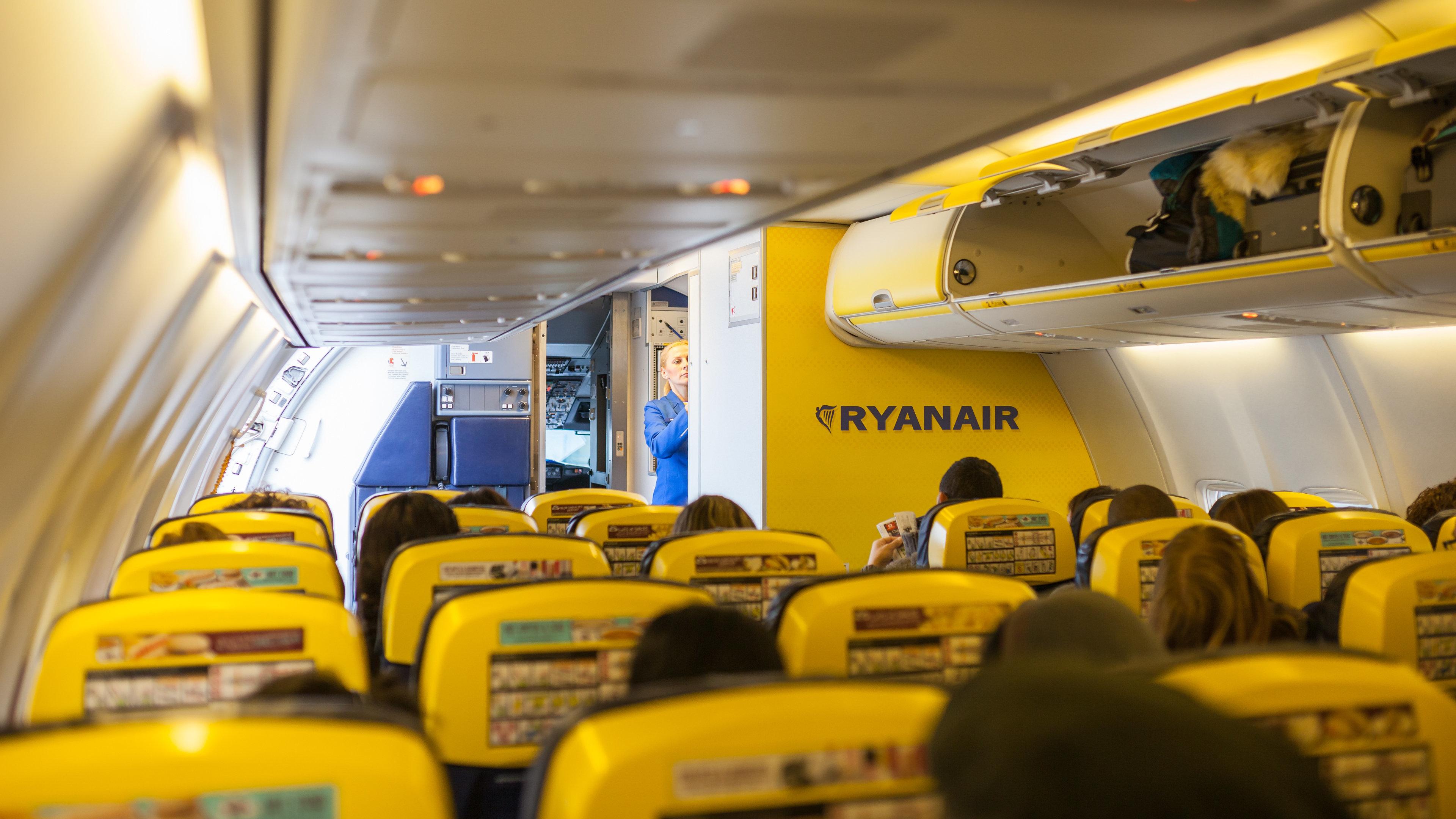 Ryanair: Als britisches Ehepaar seinen Sitzplatz sieht, ist es