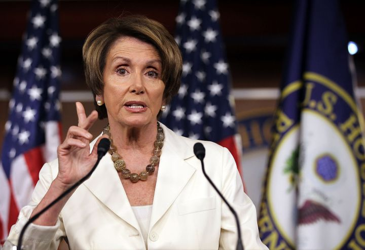 WASHINGTON, DC - JUNE 21:  U.S. House Minority Leader Rep. Nancy Pelosi (D-CA) speaks during her weekly news conference June
