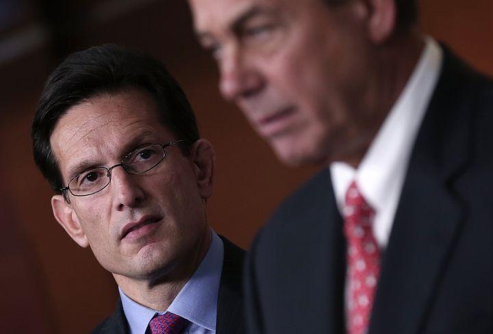 WASHINGTON, DC - DECEMBER 21: Speaker of the House John Boehner (R-OH) (R) speaks during a press conference as House Majority
