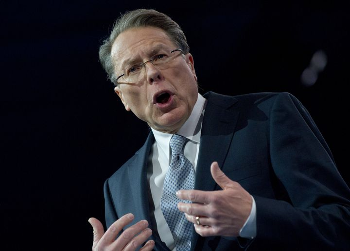National Rifle Association (NRA) CEO Wayne LaPierre speaks at the Conservative Political Action Conference (CPAC) in National
