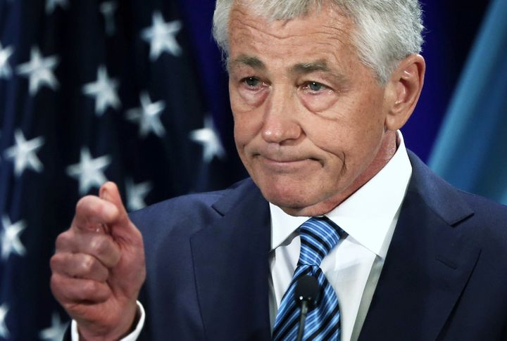 WASHINGTON, DC - APRIL 03:  U.S. Secretary of Defense Chuck Hagel speaks at the National Defense University at Ft. McNair Apr