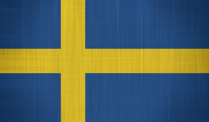 sweden flag with a fabric...