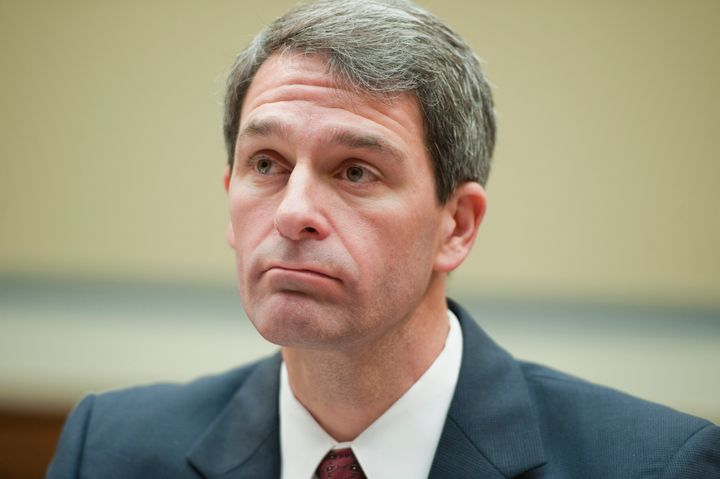 UNITED STATES - NOVEMBER 01:  Virginia Attorney General Kenneth Cuccinelli prepares to testify before a House Oversight and G