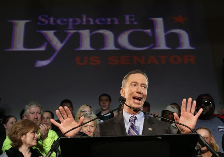 BOSTON - JANUARY 31: Stephen Lynch announces candidacy for US Senate at Ironworkers Hall in South Boston. (Photo by Barry Chi
