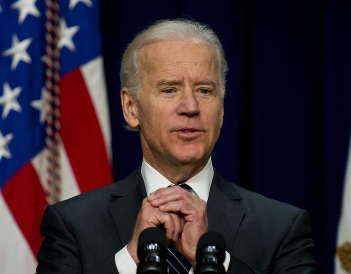 US Vice President Joe Biden delivers remarks to call on Congress to 'pass common-sense measures to reduce gun violence' as lo
