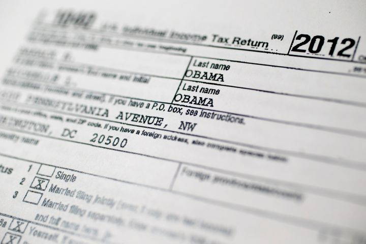 A copy of the U.S. Department of the Treasury Internal Revenue Service (IRS) 1040 Individual Income Tax form for the 2012 tax