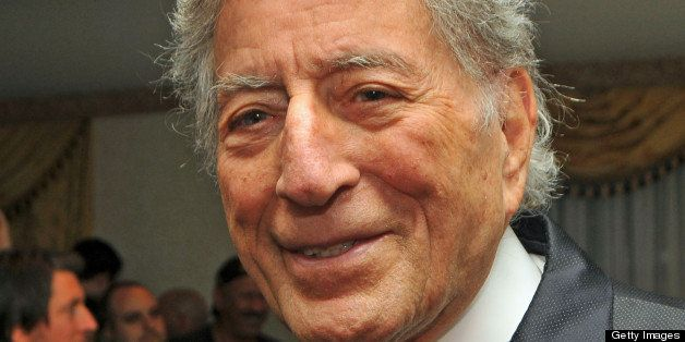 Close-up of American singer Tony Bennett (born Anthony Dominick Benedetto) attends the Amy Winehouse Foundation awards dinner