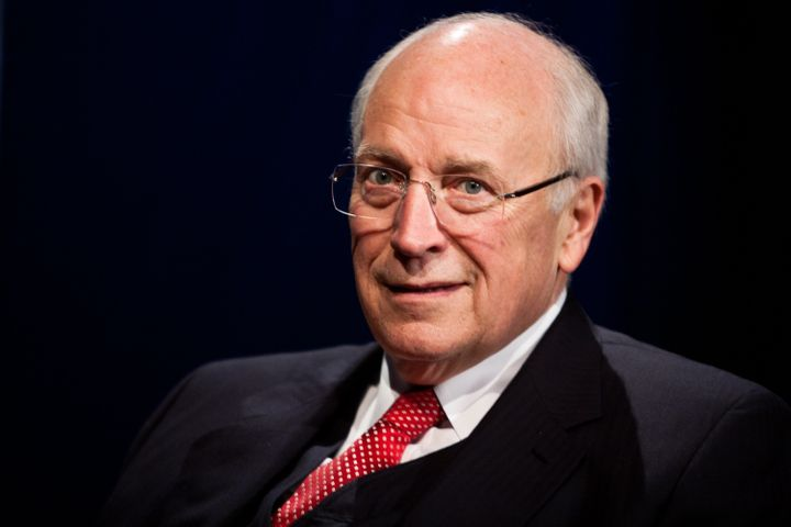 WASHINGTON - OCTOBER 25: Former Vice President Dick Cheney is interviewed by SiriusXM Patriot host David Webb at SiriusXM stu
