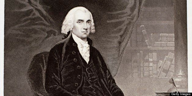 Portrait of James Madison (1751-1836), fourth President of the United States of America.