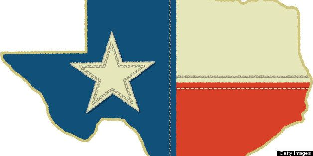 Texas State Flag in Texas Shape