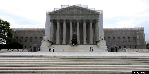 WASHINGTON, D. C. - APRIL 19:  U.S. Supreme Court Building, in Washington, D. C. on APRIL 19.  (Photo By Raymond Boyd/Getty I