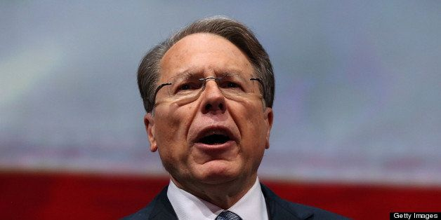 HOUSTON, TX - MAY 03:  NRA executive vice president and CEO Wayne LaPierre speaks during the 2013 NRA Annual Meeting and Exhi