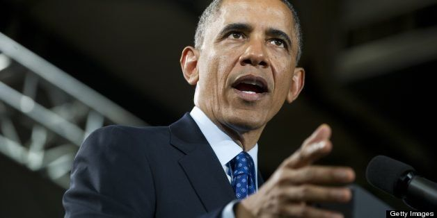 US President Barack Obama speaks on the economy and job creation after touring Manor New Technology High School in Manor, Tex