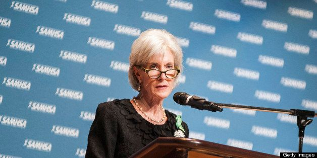WASHINGTON, DC - MAY 07: Kathleen Sebelius speaks during the 8th annual National Children's Mental Health Awareness Day in Th