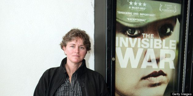 SANTA BARBARA, CA - FEBRUARY 02:  Trina McDonald and service dog Suzzie of the film 'The Invisible War' attend the 28th Santa