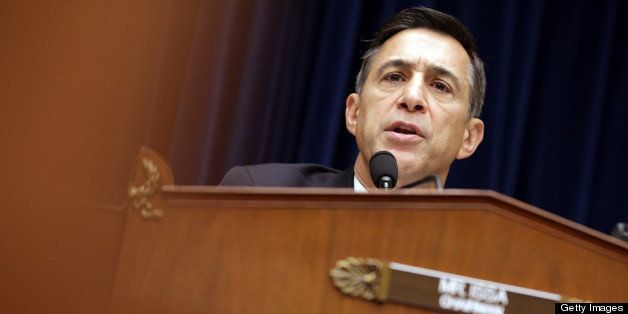WASHINGTON, DC - MAY 08: Committee Chairman Darrell Issa (R-CA) of the House Oversight and Government Reform Committee asks q