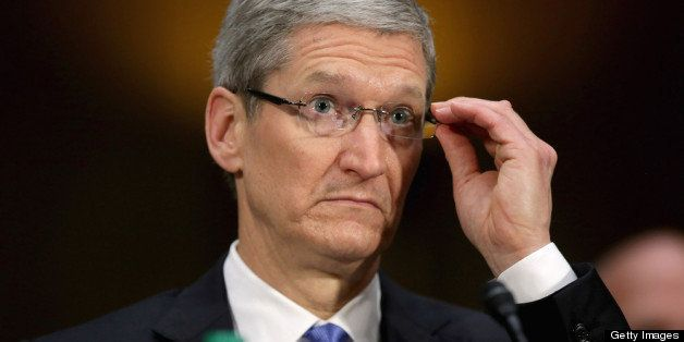 WASHINGTON, DC - MAY 21:  Apple CEO Timothy Cook testifies before the Senate Homeland Security and Governmental Affairs Commi