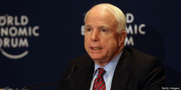 DEAD SEA, JORDAN - MAY 25: U.S. Sen. John McCain (R-AZ)  addresses the World Economic Forum on the Middle East and North Afri